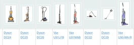 Compare lightweight vacuum cleaners